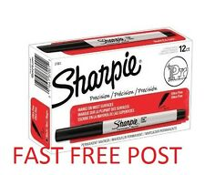 SHARPIE ULTRA FINE BLACK PERMANENT MARKER PEN 12 PACK BOX UK STOCK FAST SHIP