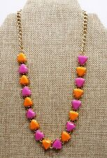 Necklace - New w/ Tag A43) Kensie Orange and Fuchsia Gold-tone