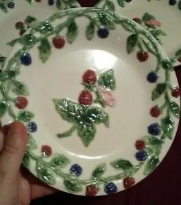 MWW World Market Fruit Berry Vine Cottage Dessert Plates (4)