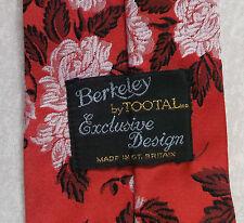 Vintage TOOTAL Tie Mens Necktie Retro Fashion BERKELEY RED FLORAL