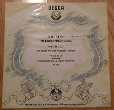 "Olof - Rossini: Barber of Seville / Nicolai: Merry Wives Windsor - LW 5008 (10"")"