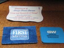Vintage Lot 3 Advertising Sewing Needle Books 2 Banks 1 Drug Store