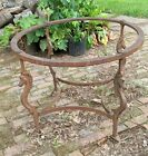 ANTIQUE MACHINE AGE CAST IRON HORSE TABLE BASE perfect for race and derby lovers
