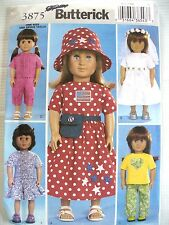"""BUTTERICK 3875 Sewing PATTERN FOR 18"""" DOLLS"""
