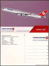 NEU TURKISH AIRLINES POSTKARTE TÜRKISCH AIRLINE FLUGZEUG AIRBUS A340