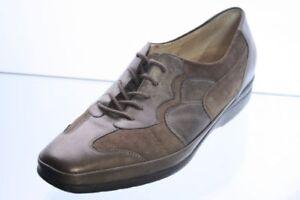 Waldläufer Schuhe braun Leder Wechselfußbett Schuhweite G Gr. 38,5 (UK 5,5)