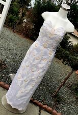 Vintage Unbranded Custom Made Wedding Dress Strapless Beaded Formal Cocktail