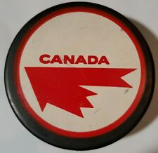 TEAM CANADA VINTAGE OFFICIAL HOCKEY PUCK RARE MADE IN CZECHOSLOVAKIA