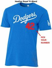 Los Angeles Dodgers CUSTOMIZE Name & Number Jersey T-Shirt Men's or Youth Sizes