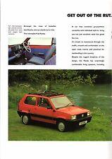 Fiat Panda 1994-95 UK Market Sales Brochure 1000 CLX 1100 Selecta