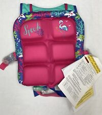 SPEEDO WATER SKEETER CHILD 30-50 LBS FLOTATION DEVICE LIFE VEST JACKET USCG PINK