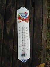THERMOMETRE EMAILLE 30cm CUISINE NEUF EMAIL VERITABLE 800°C FABRIQUE EN FRANCE