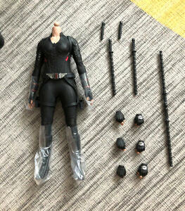 Hottoys HT MMS533 Black Widow 7.0 1/6 Body Outfits Action Figure Hands Batons