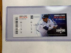 Francisco Lindor MLB DEBUT Full Season Ticket not Stub 6/14/15 Indians Mets Hit