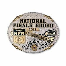2013 National Finals Rodeo Limited Edition Plated Buckle Montana Silversmiths