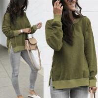 1pc Warm Long Sleeve Harajuku Tops Women Soft Sweatshirt Buttons Daily Pullovers