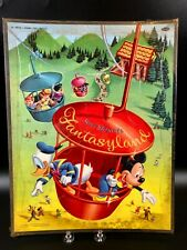 Vintage Sealed 1957 Disneyland Fantasyland Whitman Frame Tray Puzzle 4420:29