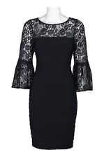 Adrianna Papell Matte Jersey Lace Dress Size 8 New with Tags RRP £140