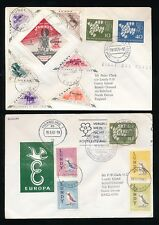 LUNDY + GERMANY EUROPA 1961 + 1962 FIRST DAY COVERS DOUBLE DATED