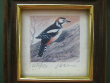 Philip Snow Limited Edition Framed Print  Woodpecker Signed & Numbered 555/750