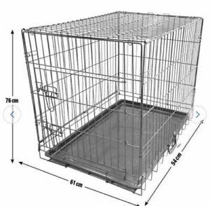 King Pets Single Door Pet Cage Metal and Mesh - Medium RRP £44.99
