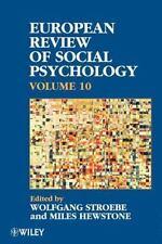 European Review of Social Psychology Vol. 10 (2002, Paperback)