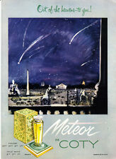 """1951 Meteor de Coty Perfume Bottle art """"Out of the Heavens-to You"""" print ad"""