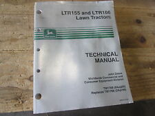 Used John Deere Technical Manual TM1768 LTR155 & LTR166 Lawn Tractors