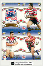 2007 Select NRL Invincible Trading Cards Base Team Set Roosters (12)