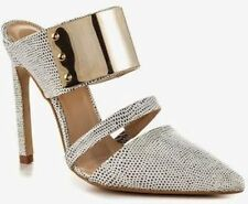 $225 The Mode Collective Metal Plate Mule,High Heel Pointed Tip Shoe NEW! 7
