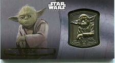 Star Wars Attack Of The Clones Commemorative Gold Medallion Card YODA  #08/10