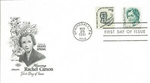 1981 FDC #1857 ~ Rachel Carson ~ Silent Spring ~ 17¢ ~ U/A ~ Artmaster