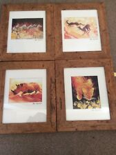 Mike Fitzpatrick Legends of Africa collection 4 prints FRAMED Wildlife art