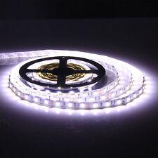 5M 5050 SMD 60LEDS/M Cold White 16.4ft 300 LED Strip Light No-Waterproof Car 12V