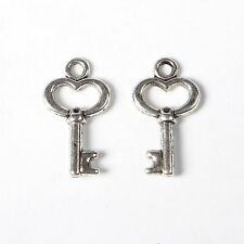 lot de 10 breloques charms pendentifs perles scrapbooking clé clef NEUF