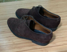 John Lobb Sz 7E UK & 8 US Perrier Brown Suede Leather Oxford Shoes England 1053