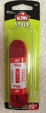 """KIWI, Style, Flat, Red, Shoe Laces, One Pair, 45"""" LONG, For 5-6 Eyelets"""