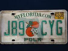 Florida State License Plate  (Retired in 2008)