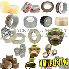 STRONG BROWN / CLEAR / FRAGILE / DUCT TAPE ETC MULTI LISTING - ALL PACKING TAPES