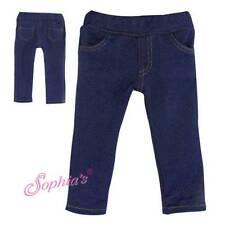 "Blue Jeggings Jeans fits 18"" American Girl Doll Denim Pants leggings"