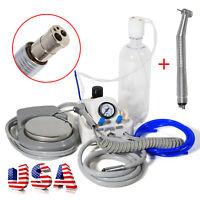 Dental Portable Turbine Unit work w/ Compressor + Fast High Speed Handpiece 4H