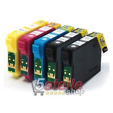 KIT 5 CARTUCCE PER EPSON STYLUS S22 SX125 SX130 SX420W SX425W BX305F BX305FW