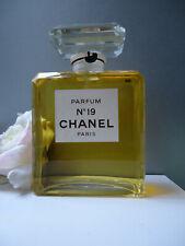 Factice CHANEL No19 PARFUM HUGE 500ml Sealed Glass Bottle Vintage 1970-80s 17cm