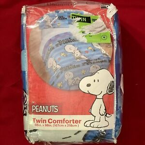 NEW Peanuts Bedding Twin Comforter Blanket ~ Best Friends Snoopy & Charlie Brown