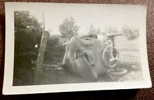 VINTAGE CAR AUTOMOBILE VEHICLE ROAD ACCIDENT DEATH KOEHLER WISCONSIN PHOTOGRAPH