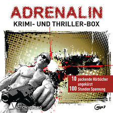 XXL Hörbuch-Paket Krimi&Thriller | 10 Hörbücher auf 2 mp3-DVDs anstatt 75 CDs