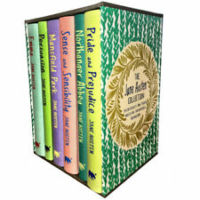 Jane Austen Pride and Prejudice Emma Persuasion Mansfield 6 Books Collection Set