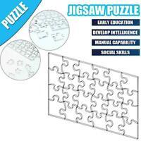 108Pcs/Set Transparent Acrylic Blank Jigsaw Puzzle Educational Toys Kids S4D2