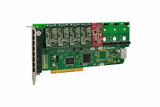 OpenVox A800P41 8 Port Analog PCI Base Card + 4 FXS + 1 FXO, Ethernet (RJ45)