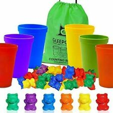 Gleeporte Counting Bears with Coordinated Sorting Cups | Sorting, Math Skills